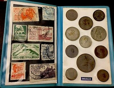 Mexican Stamps And Coins