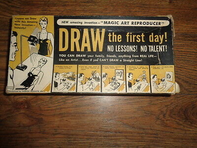 Drawing - Magic Art Reproducer - Draw the First Day - Norton Products 1951