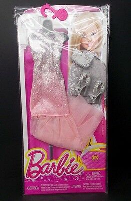 New 2016 Barbie Complete Look Fashion Pack Glittery Glam Dress + Accessories