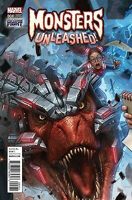 Monsters Unleashed #4 Future Fight 1:25 Incentive Variant Marvel Comics 3/1/17