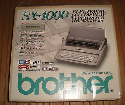 Brother SX-4000 Electronic LCD Display Typewriter with Dictionary Tested Works
