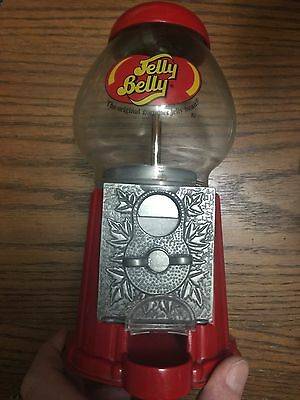 Jelly Belly Dispenser Die Cast Bean Machine Glass & Metal Coin Operated Used