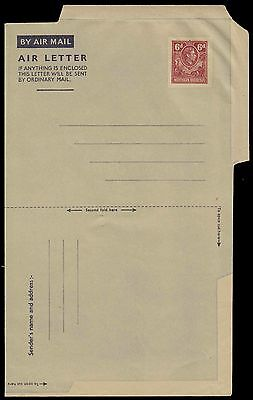 NORTHERN RHODESIA KG 6d SCARCE UNUSED AIR LETTER STATIONERY