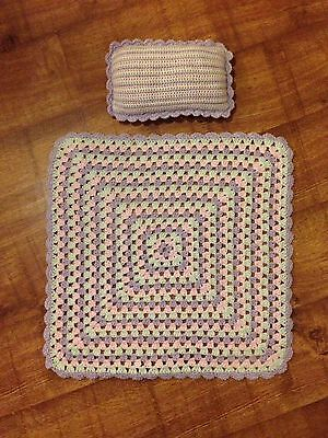 Dolls Blanket And Pillow Set- Made To Order