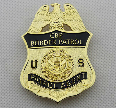 Department Homeland Security DHS CBP US Badges Cosplay Gift Prop Copper Brooches