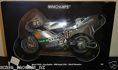 Minichamps 1:6 - Ducati - Troy Bayliss - 2001 Imola - New & Very Rare+Have 1:12
