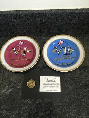Royal And War Memorabilia Plates And Coin Very Collectable BNIB