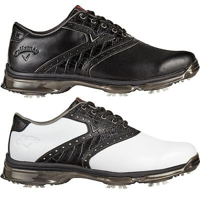 Callaway 2017 X Nitro PT Waterproof Mens Spikes Golf Shoes-Leather