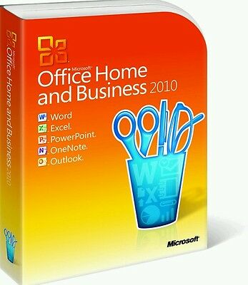 Microsoft Office Home and Business 2010 PC English Download/Key Windows Genuine