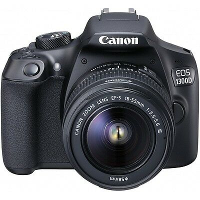 Canon EOS 1300D Kit EF-S 18-55 IS II F3.5-5.6 Lens - Black