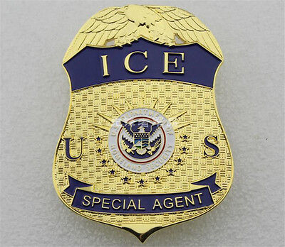 Department of Homeland Security SPECIAL AGENT ICE American Badges Copper Emblems