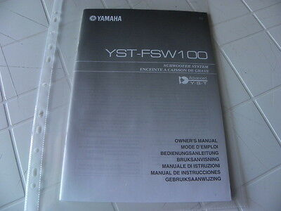 Yamaha  YST-FSW100 Owner's Manual  Operating Instructions Istruzioni
