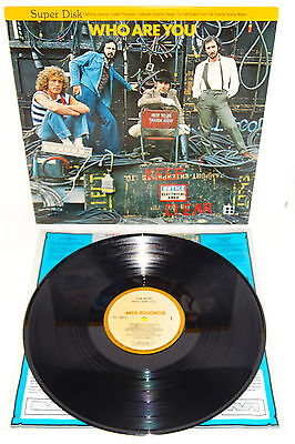 The Who Who Are You 1978 Mca Usa Super Disk Half-Speed Audiofile Lp
