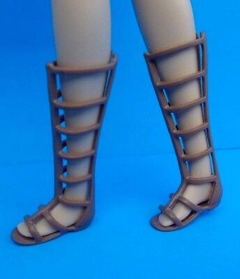 2017 Barbie Shoes Fashionistas Flats Brown Gladiator Sandals Also Fit Skipper