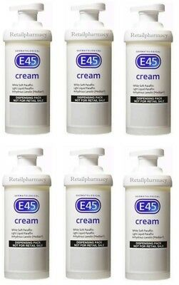 E45 Dematological Cream Pump Treatment For Skin Conditions and Eczema 500g x 6