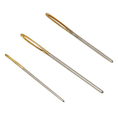 3 Large Eye Blunt Needles Wool Thick Knitter Yarn Hand Sewing Darning Crafts