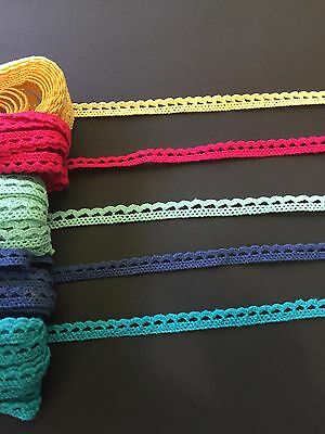 1m Crochet Cotton Lace Trim Braid Sewing Craft Scrapbooking Doll Cardmaking