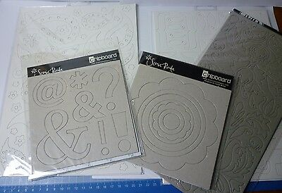 Mixed Chipboard Bundle - 5 Packs - Scenic Route, Woodware, Maya Road
