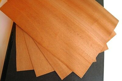 4 x MAHOGANY VENEER Sheets - Size A4 - PACK OF 4 - 297x210mm