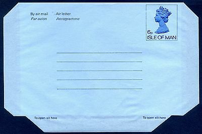 Great Britain, Isle of Man, 6p Air Letter/Aerogramme, H&G 1, fine unused