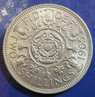 1965 2/- Elizabeth II Florin in an extremely high grade