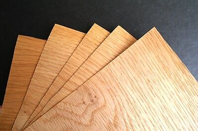 5 x English OAK VENEER Sheets - Size A5 - PACK OF 5 - 148x210mm