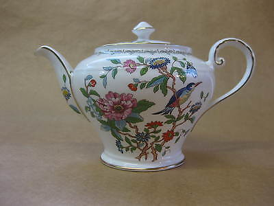 Vintage Aynsley Bone China Teapot ~ Pembroke Pattern ~ 18th Cent. Reproduction