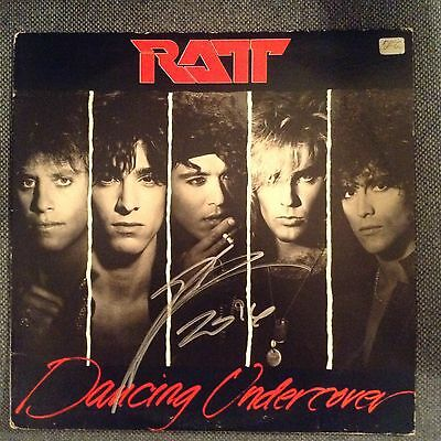 Ratt-Dancing Undercover Autographed Album Cover/ Stephen Pearcy/coa