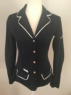 Spooks Equestrian Horse Riding Navy Button Up Jacket Size M