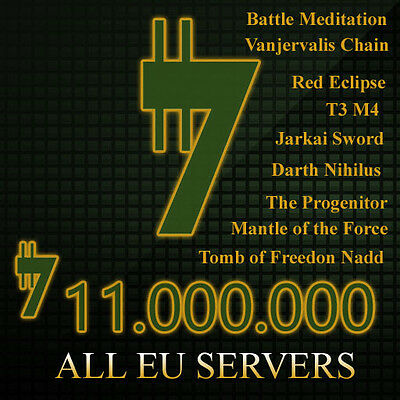 SWTOR 11 Million Credits - Tomb of Freedon Nadd ToFN Empire and Republic