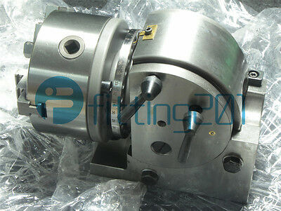 "Precision ECO BS-0 Dividing Head With 5"" 3-jaw Chuck & Tailstock"