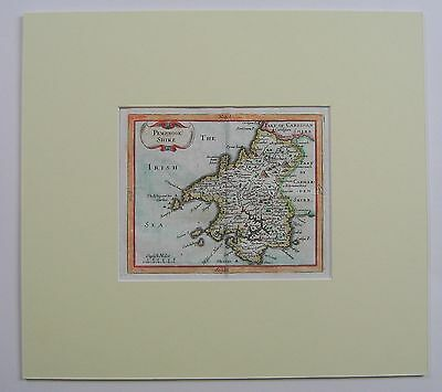 Pembrokeshire: antique map by John Seller, c1694
