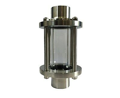 """Hygienic Sight Glass - Weld End - 1"""" - 4"""" OD - 316L Stainless Steel"""