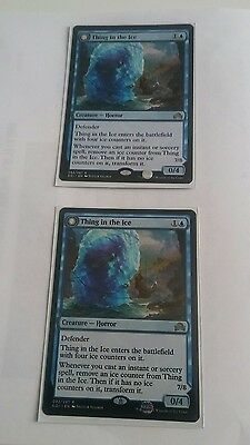 MTG thing in the ice rare x2