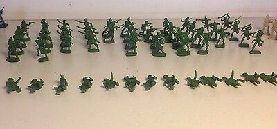 52 Mixed Lot Of Plastic Soldiers Possibly Atlantic in 1970's  #4