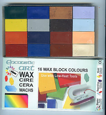 """Encaustic Art Wax - 16 """"Expanding"""" Colours  - Brand New in Box"""