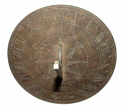 Authentic Brass SUNDIAL by JAMES LUCKING & Co BIRMINGHAM Engraved Fugit Hora