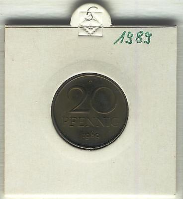 J Coins E89 Germany 1989 Value 20 Pfennig