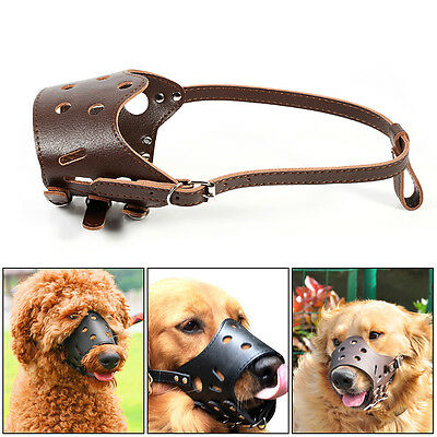 Pet Large Dog Adjustable Mask Bark Bite Mouth Muzzle Grooming Stop Chewing HG