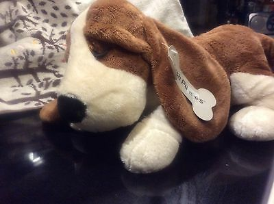 Lullaby Basset Hound Plush Hush Puppies Plays 2 Songs Great Gift!!