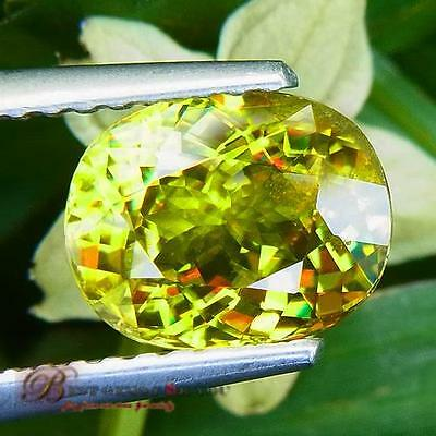 1.94Ct Majestic Yellow Natural Sphene Oval