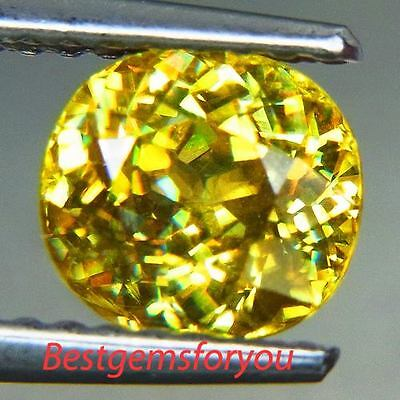 1.33Ct Awesome Yellow Natural Sphene Oval
