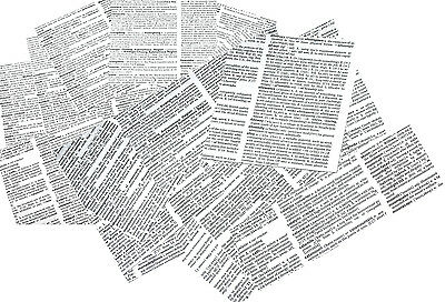 """4"""" Craft decoupage scrapbook thin paper x 150 old dictionary squares + punchies"""