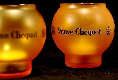 VEUVE CLICQUOT CHAMPAGNE  TEALIGHT HOLDER USED x 2