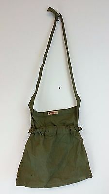 Vintage american red cross cloth Hand Bag Satchel army green Buffalo NY chapter