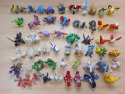 Pokemon Figure Tomy & Other Lot of 53 Pearl Clear Monster Collection Set Mini
