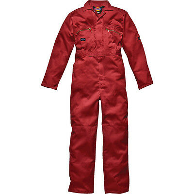 Mens Dickies WD4839 Redhawk BoilerSuit Overalls Zip Front Red Size 42T
