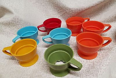 MID CENTURY Modern VTG DIXIE SOLO COZY Paper Cup Holder Lot of 8