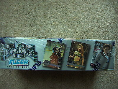 Mighty Morphin Power Rangers MMPR The Movie Trading Cards 1 Box Fleer 100 Packs