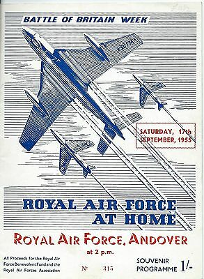 """Aviation, Programme For Royal Air Force """"at Home"""", Andover 1955"""